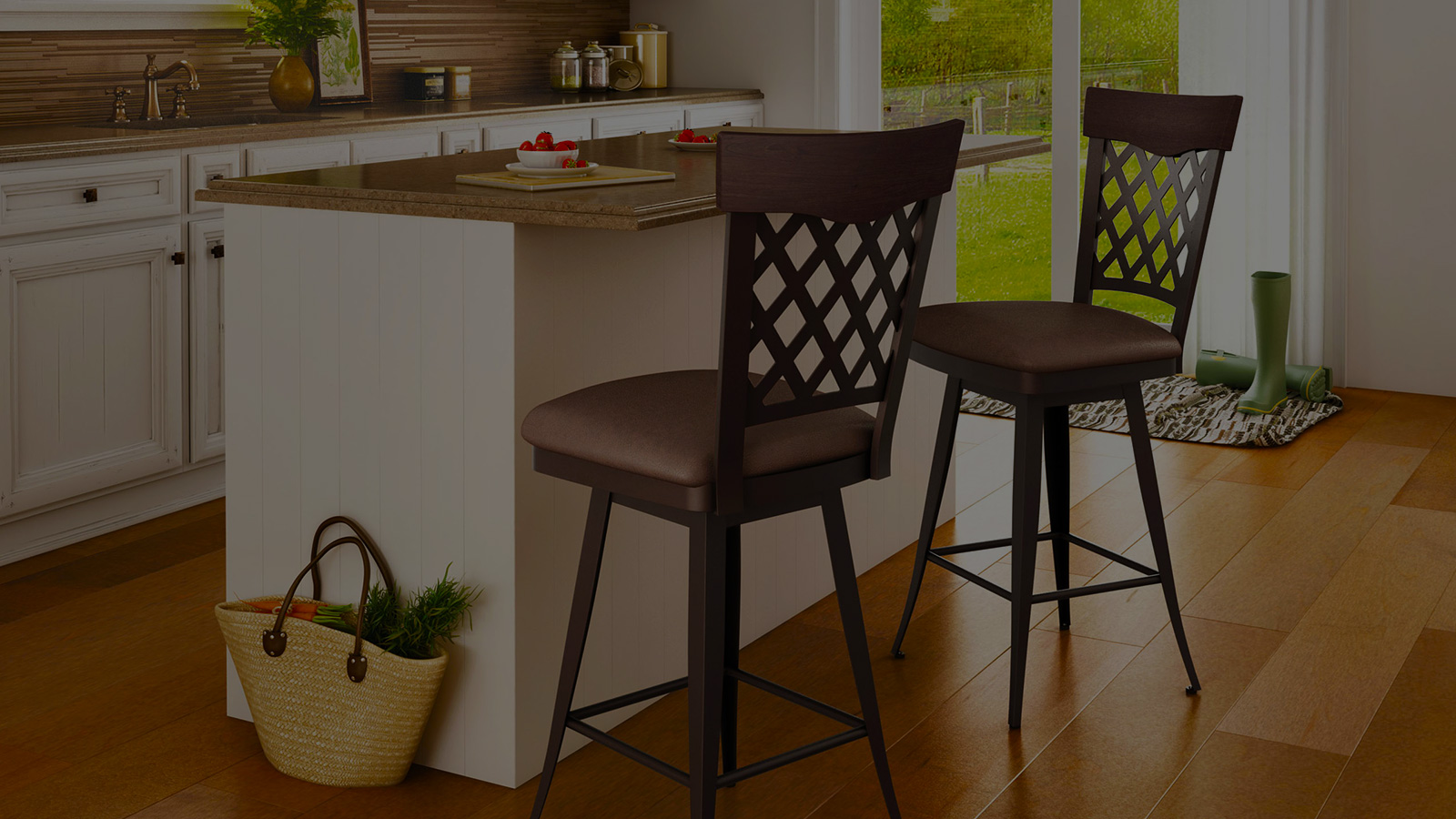 brown barstools