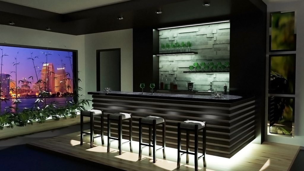 Bar furniture for a house in Pennsylvania
